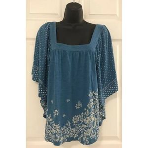 American Eagle Outfitters Floral Blouse Top Sz S